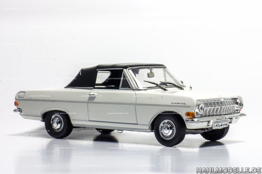 Modellauto Opel | hahlmodelle.de | Opel Rekord A Cabriolet Deutsch