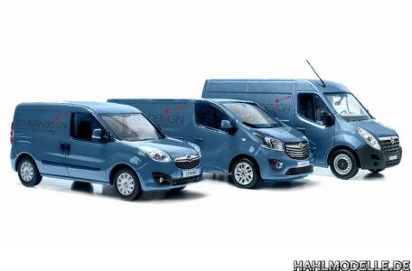 Digitales Modellauto Opel   hahlmodelle.de   Combo D, Vivaro B, Movano B digital umgefärbt