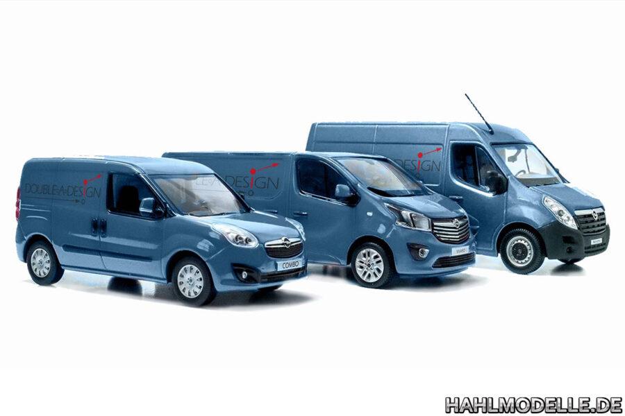 Digitales Modellauto Opel | hahlmodelle.de | Combo D, Vivaro B, Movano B digital umgefärbt