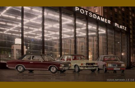 hahlmodelle.de   3 Commodore Limousinen im nächtlichen Berlin
