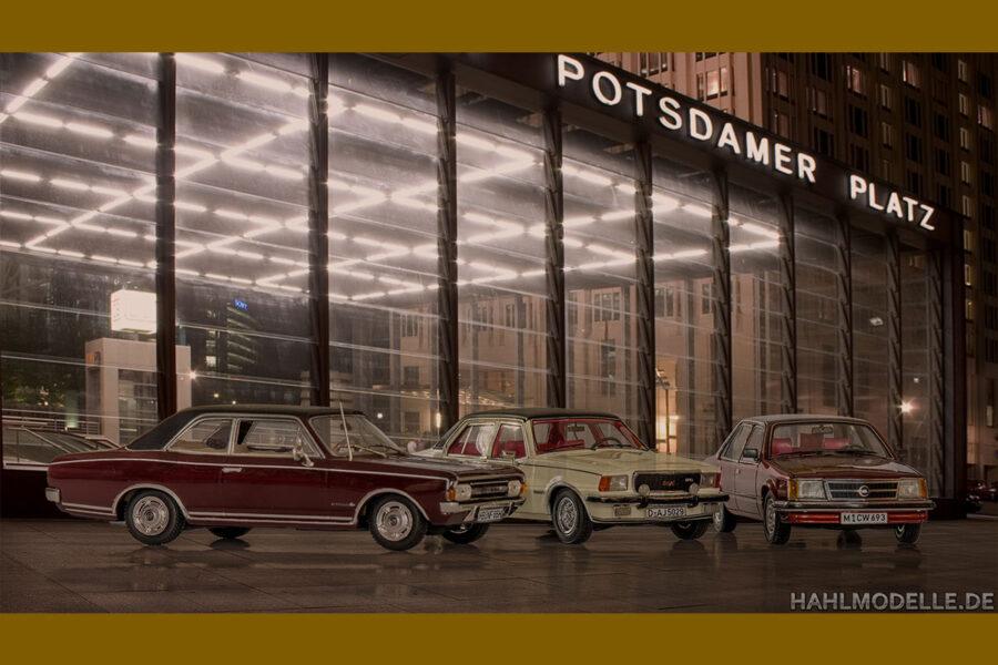 hahlmodelle.de | 3 Commodore Limousinen im nächtlichen Berlin