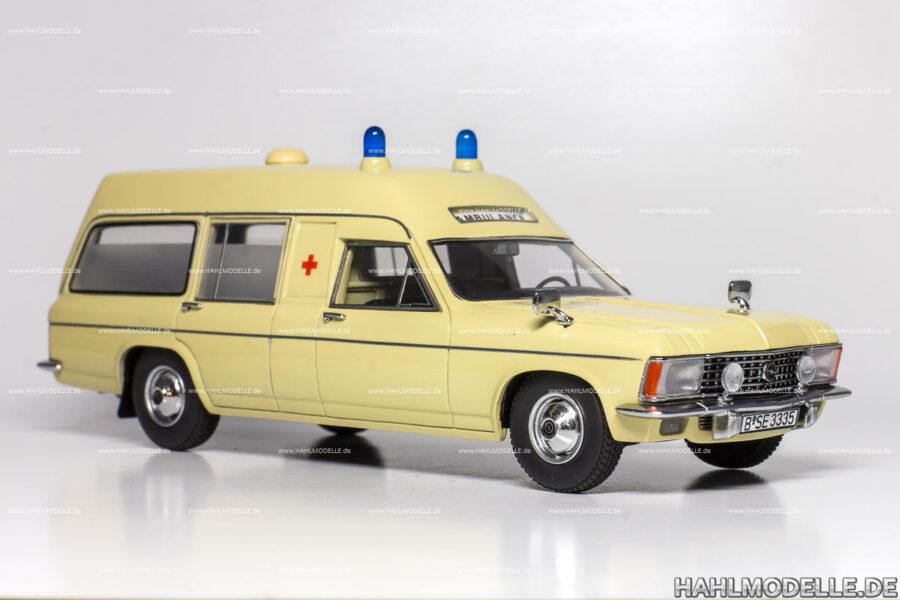Modellauto Opel | hahlmodelle.de | Opel Admiral Krankenwagen LWB (Miesen)
