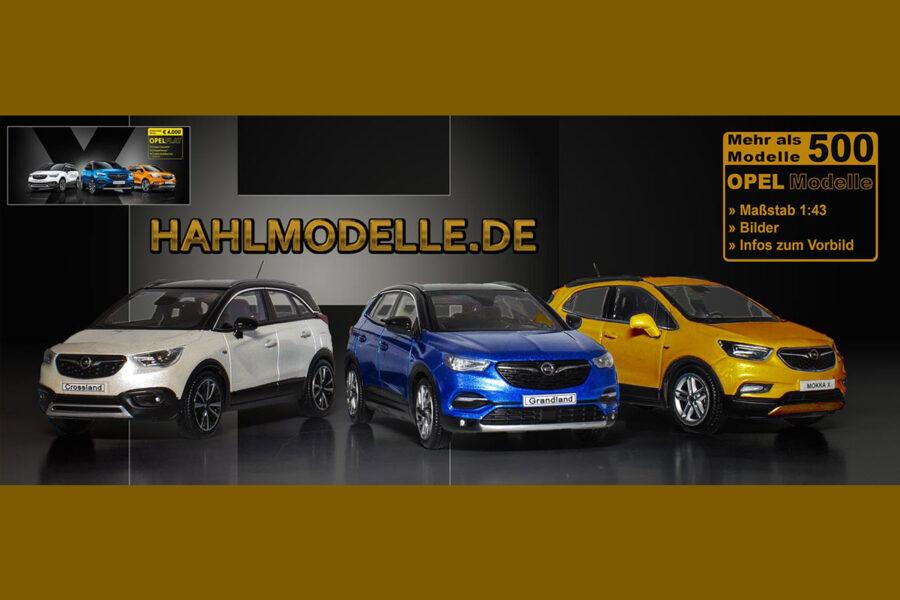 hahlmodelle.de | Anzeigenbanner Mokka X, Crossland X, Grandland X – wie bei Opel