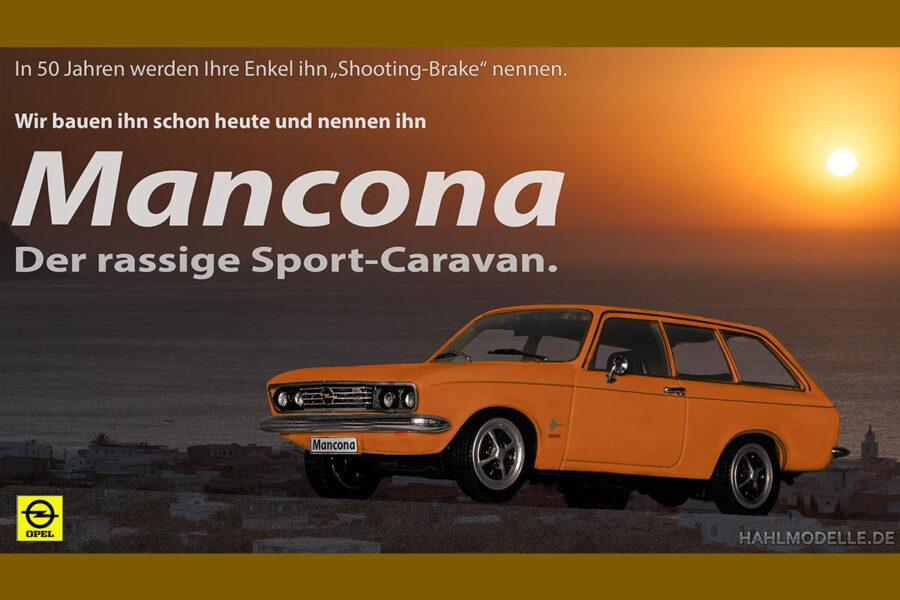 Digitales Modellauto Opel | hahlmodelle.de | Opel Mancona