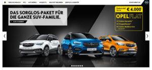 hahlmodelle.de | Das originale Werbebanner von Opel (Screenshot)