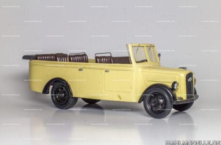 Modellauto Opel | hahlmodelle.de | Opel Blitz Fahrgestell 1,5 to, Typ 2,5-45, Bus Cabriolet