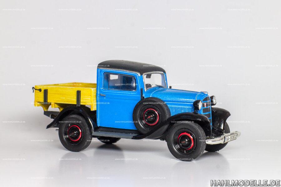 Modellauto Opel | hahlmodelle.de | Opel P4, Lieferwagen Pritsche