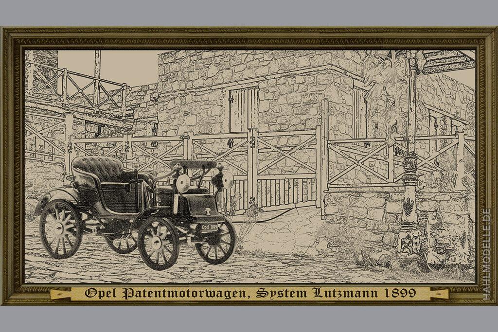 Modellauto Opel | hahlmodelle.de | Patentmotorwagen, System Lutzmann