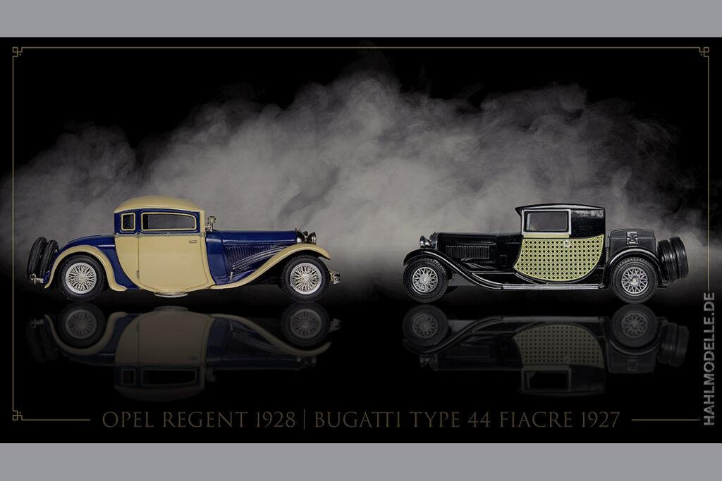 Modellauto Opel | hahlmodelle.de | Regent (und Bugatti Type 44 Fiacre)
