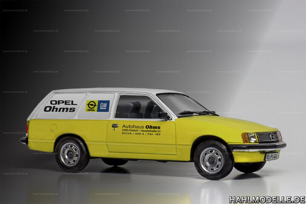 Modellauto Opel | hahlmodelle.de | Lieferwagen Rekord E1