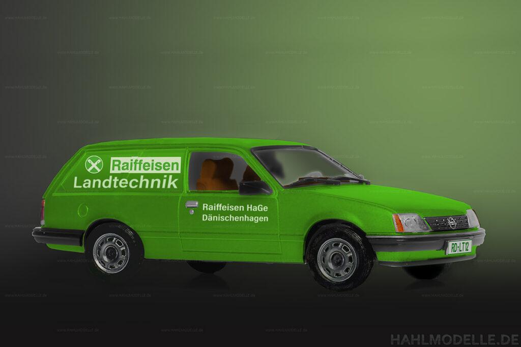 Modellauto Opel | hahlmodelle.de | Lieferwagen Rekord E2