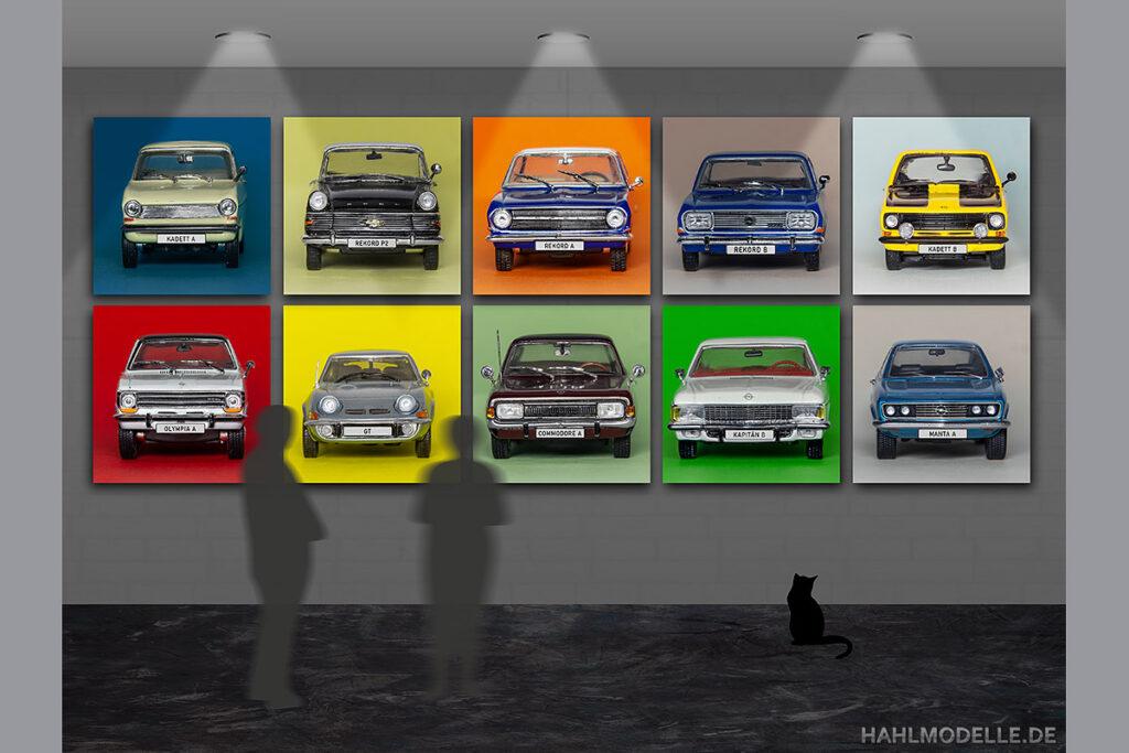 Modellauto Opel | hahlmodelle.de | diverse Modelle aus den Sechzigern