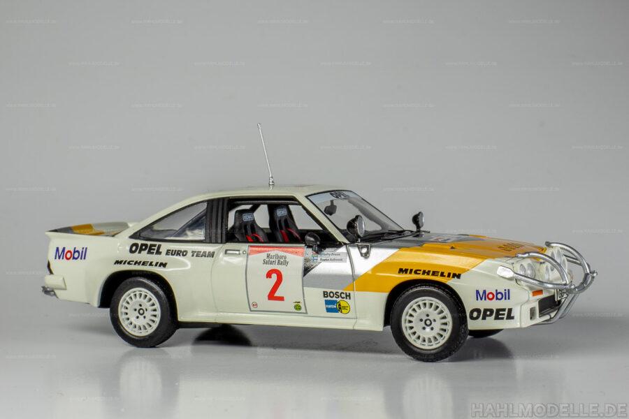 Modellauto Opel | hahlmodelle.de | Opel Manta B 400, Safari Rallye, Aaltonen