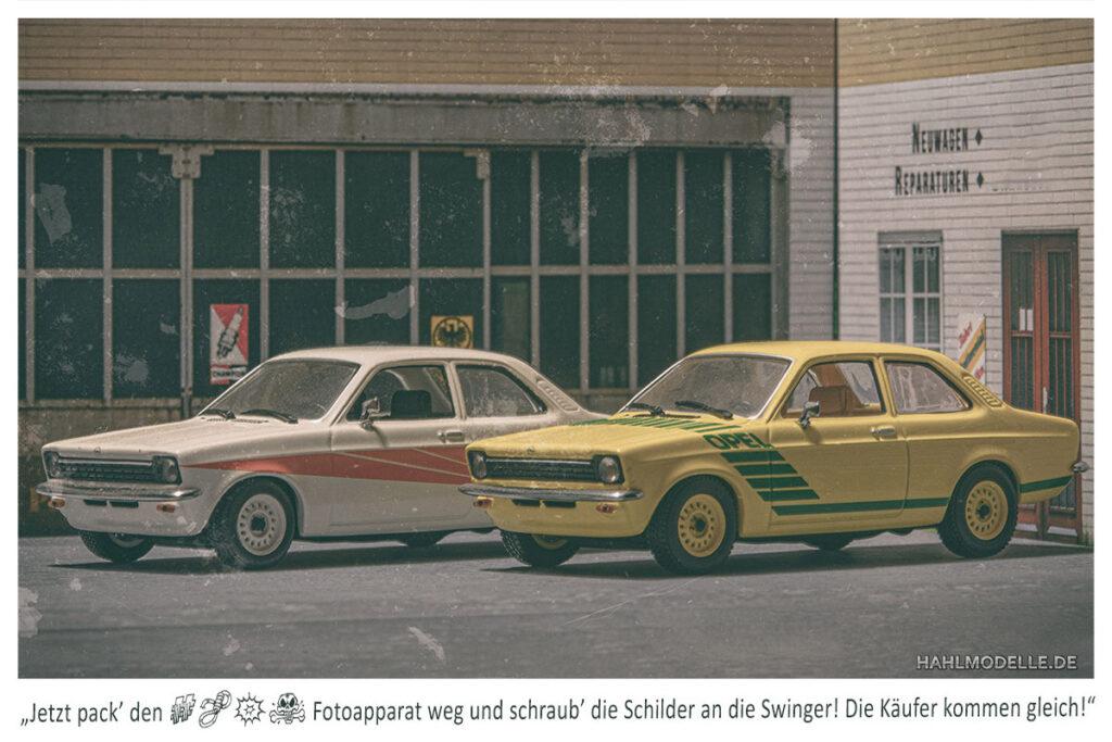 Modellauto Opel | hahlmodelle.de | Zwei Kadett C Swinger