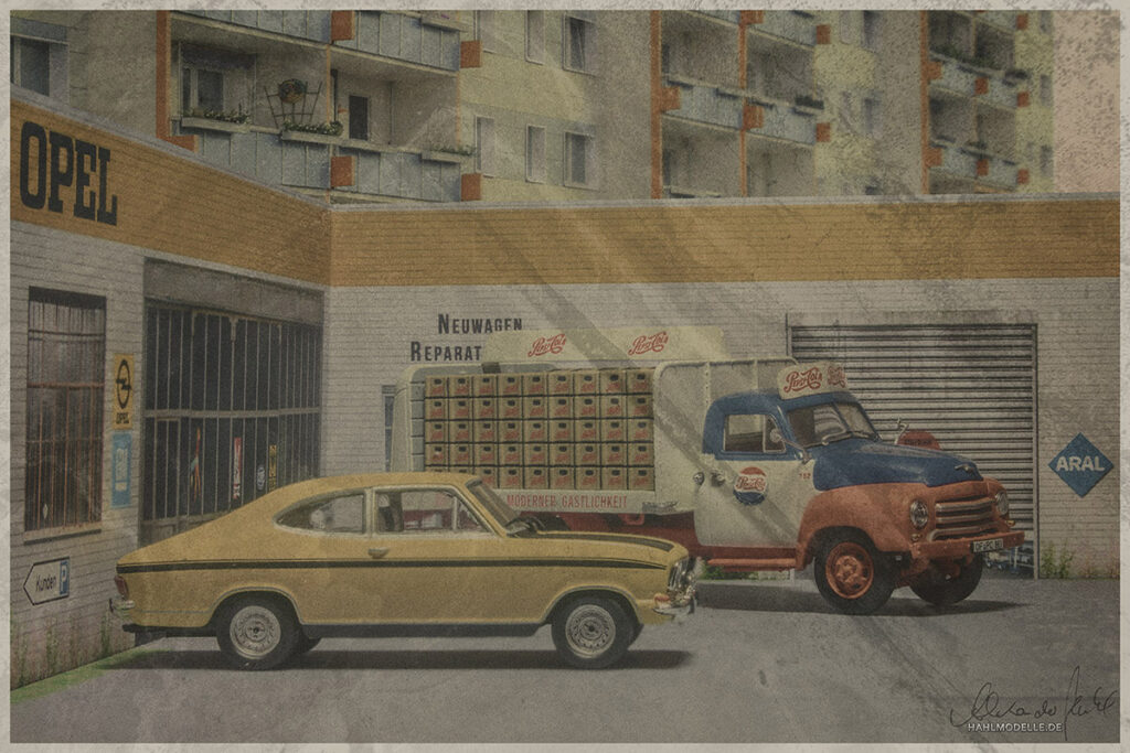 Modellauto Opel | hahlmodelle.de | Kadett B LS Coupé und Blitz 1,75 to.