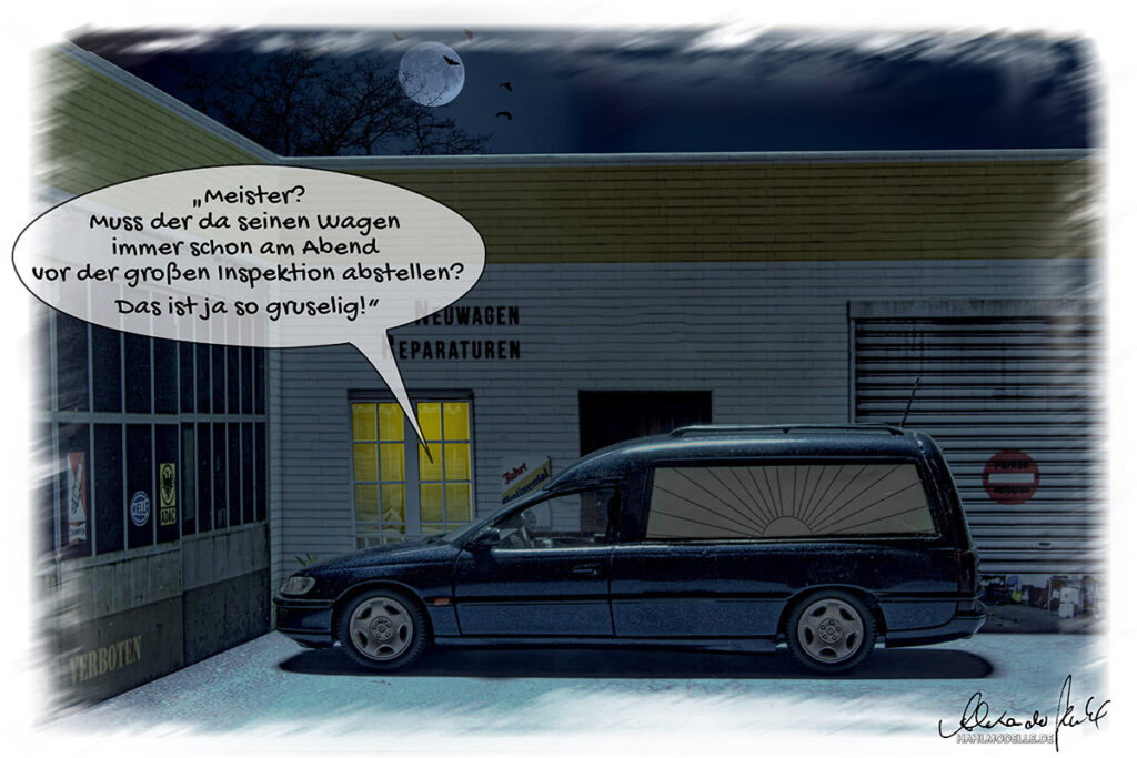 Modellauto Opel | hahlmodelle.de | Omega B Bestatter Pollmann