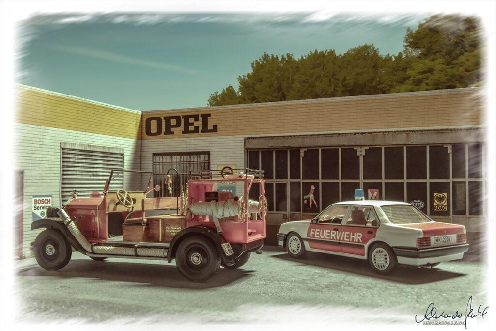 Modellauto Opel | hahlmodelle.de | 10/40 PS TSF und Ascona C2