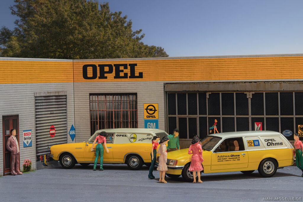 Modellauto Opel | hahlmodelle.de | Lieferwagen Rekord C, Lieferwagen Rekord E1