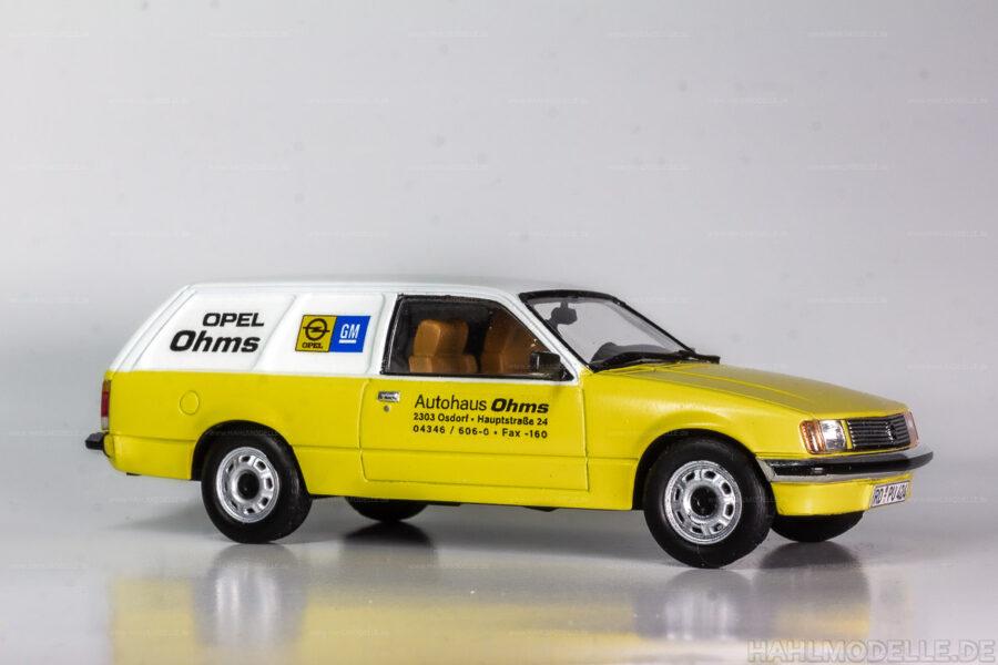 Modellauto Opel | hahlmodelle.de | Opel Rekord E1 Lieferwagen