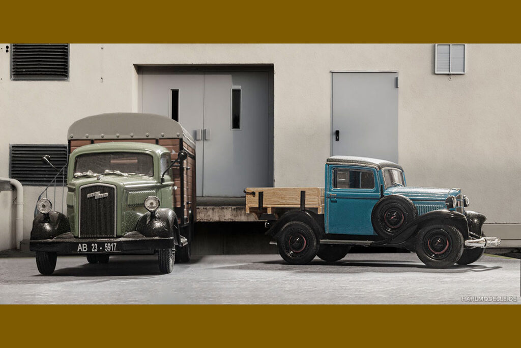 Modellauto Opel | hahlmodelle.de | Kleine Lastwagen