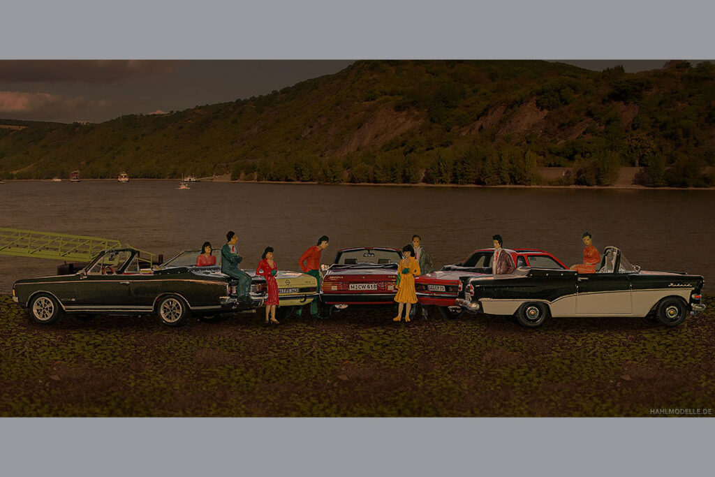 Modellauto Opel | hahlmodelle.de | Abendliche Ausfahrt