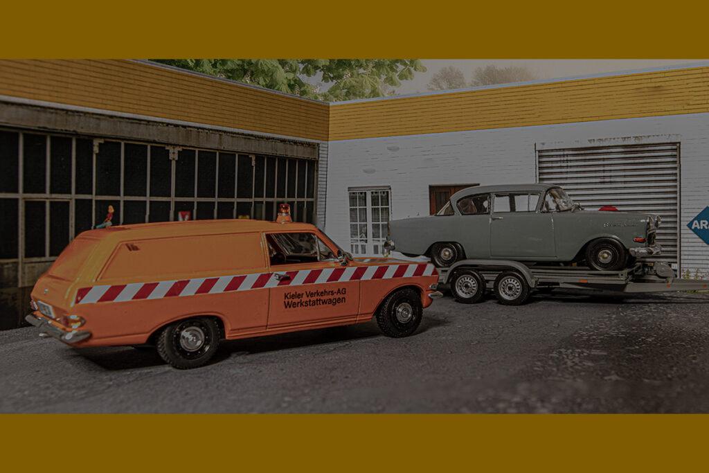 Modellauto Opel | hahlmodelle.de | Treffen vor der Werkstatt