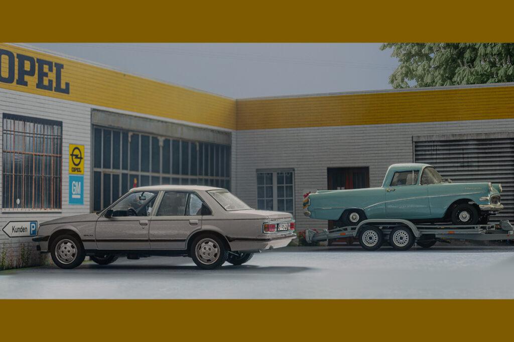 Modellauto Opel | hahlmodelle.de | Zwei Wagen in der Warteschleife