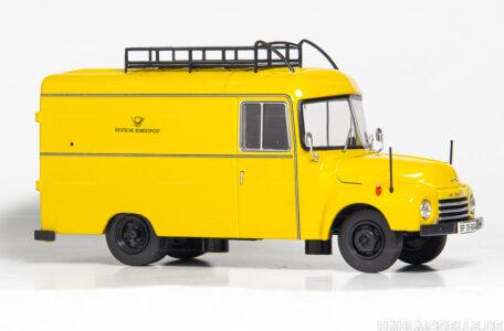 Modellauto Opel | hahlmodelle.de | Opel Blitz Lastkraftwagen 1,75 to, Kasten, Post