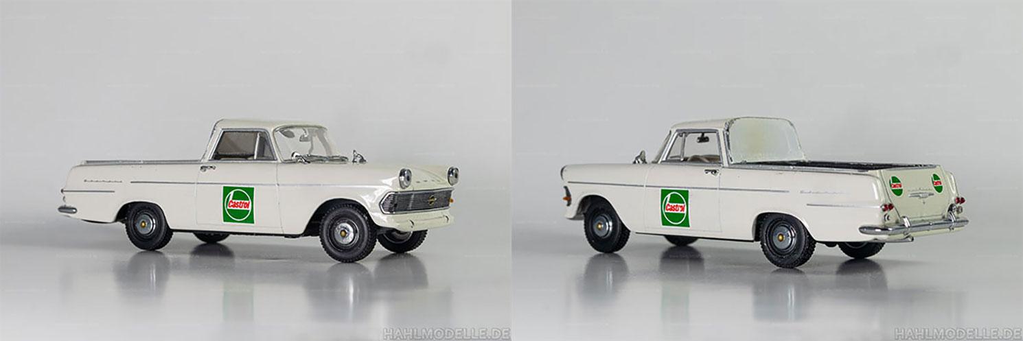 hahlmodelle.de | Opel Rekord P2 PickUp: Falscher Umbau