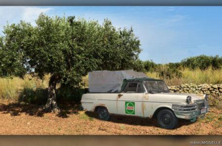 Modellauto | hahlmodelle.de | Opel Rekord P2 PickUp mit Plane