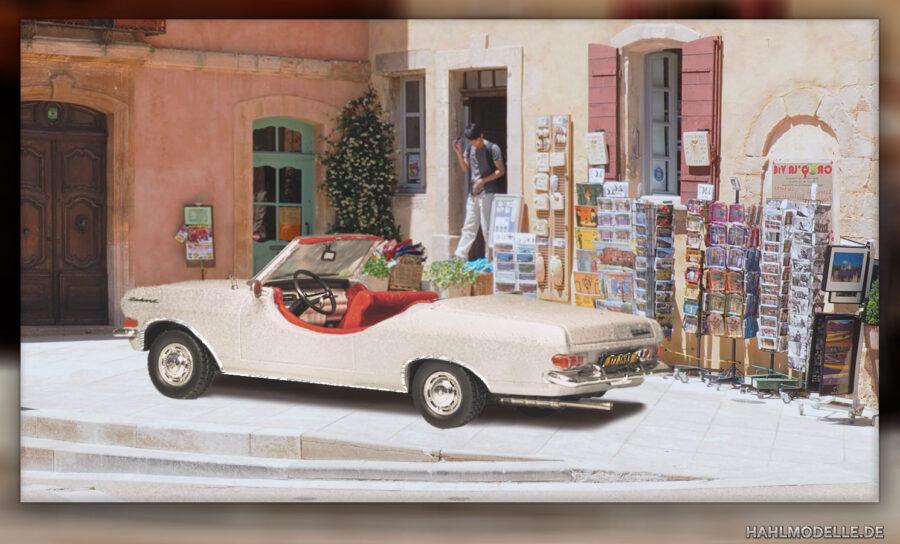 "Modellauto | hahlmodelle.de | Opel Rekord A Cabriolet ""Tour de France"""