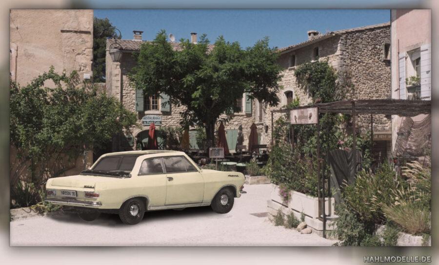 Modellauto   hahlmodelle.de   Opel Rekord A Cabrio-Limousine (Autenrieth)