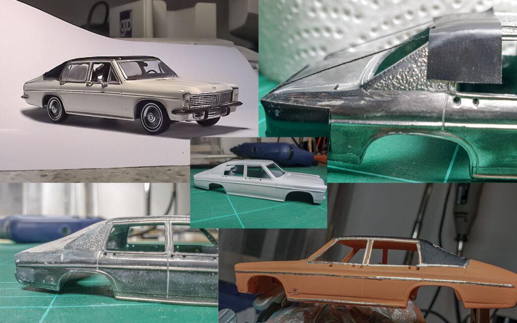 hahlmodelle.de | Opel Diplomat B Fastback-Limousine (Vogt): Karosseriearbeiten und Lackierung