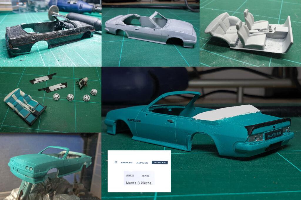 hahlmodelle.de | Opel Manta B Cabriolet Piecha: Umbauschritte