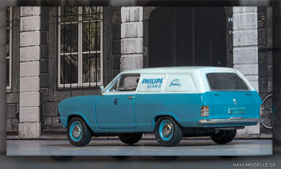 Modellauto   hahlmodelle.de   Opel Kadett B Kastenwagen