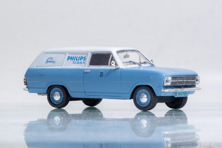 "Modellauto   hahlmodelle.de   Opel Kadett B Kastenwagen ""Philips Service"""