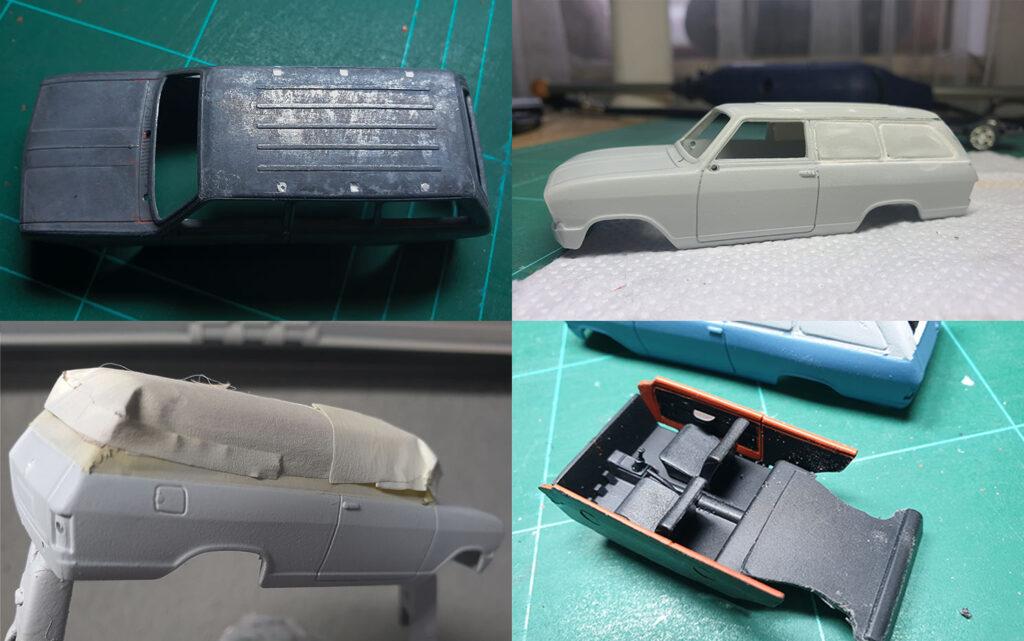 hahlmodelle.de   Opel Kadett B Kastenwagen: Karosseriearbeiten und Lackierung
