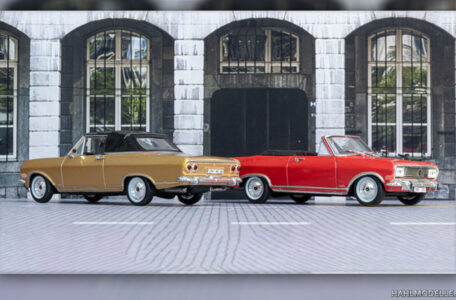 Modellauto   hahlmodelle.de   Opel Rekord B Cabriolet (Deutsch) - zwei Varianten