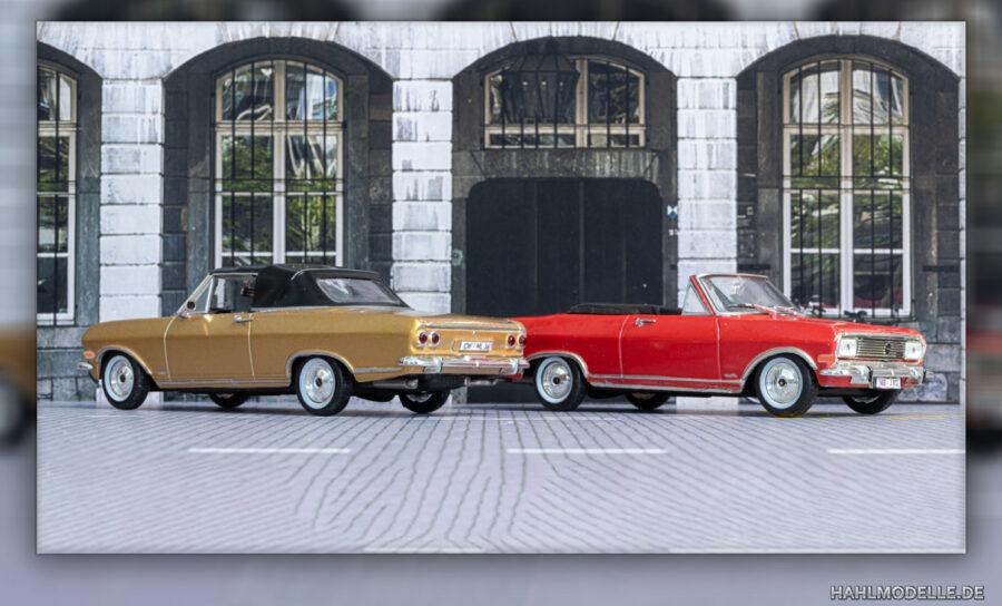 Modellauto | hahlmodelle.de | Opel Rekord B Cabriolet (Deutsch) - zwei Varianten