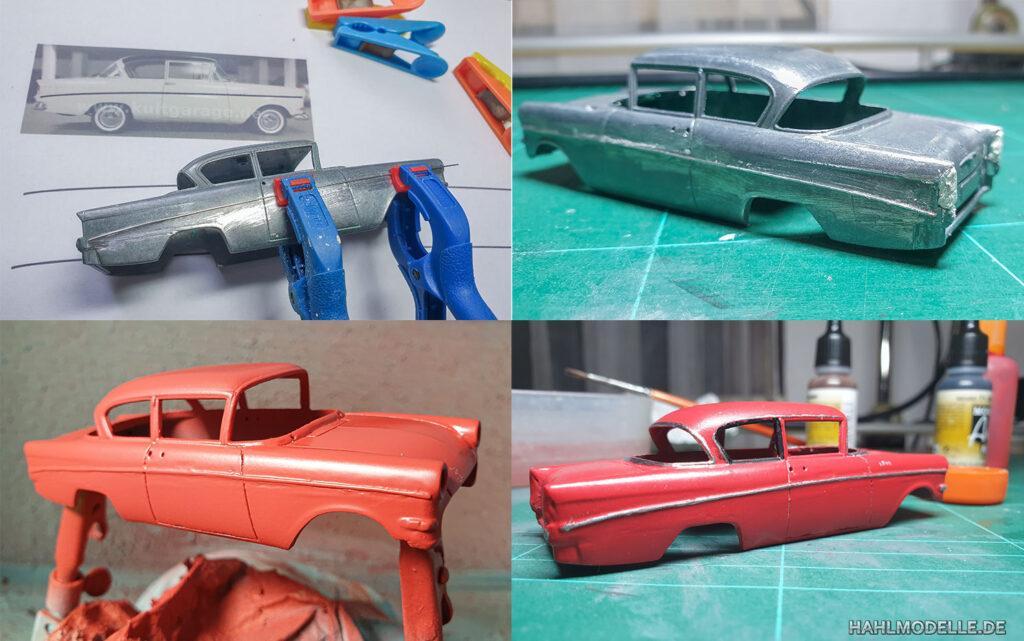 hahlmodelle.de   Opel 1200: Umbauschritte, weitere Arbeiten