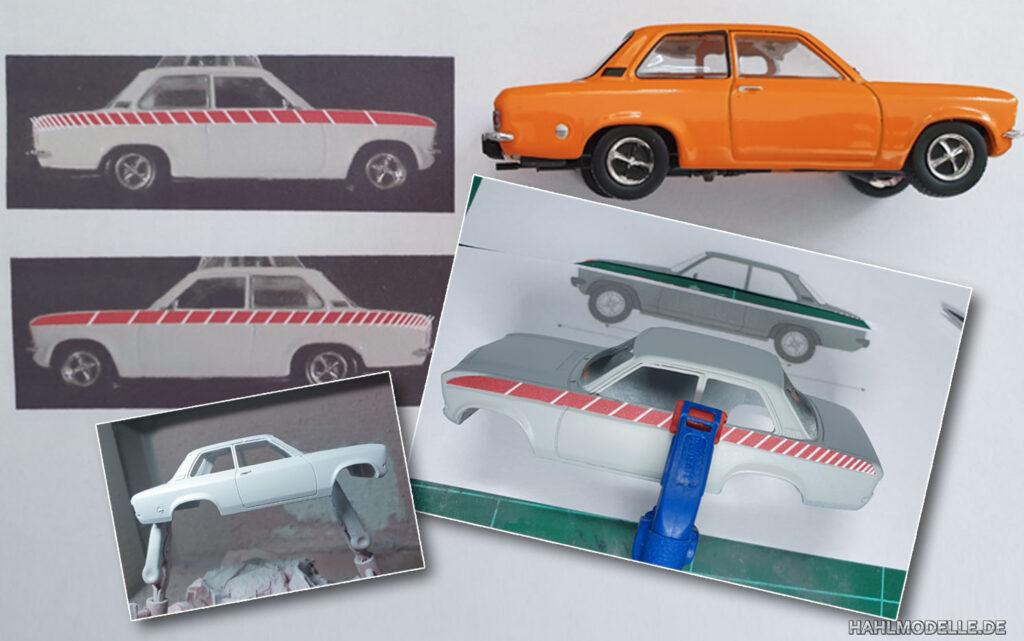 hahlmodelle.de | Opel Ascona A Swinger: Vorarbeiten