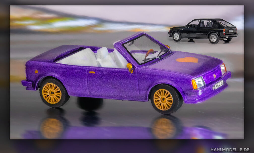 hahlmodelle.de   Opel Kadett D Cabriolet (Baumgärtner): Fertiges Modell und Ausgangsbasis