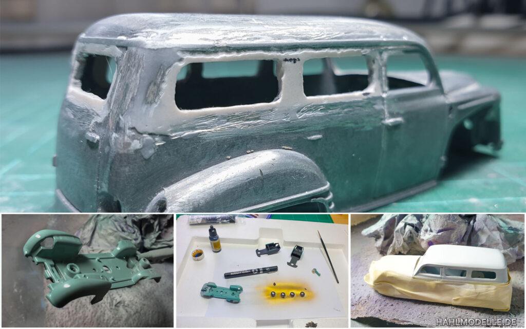 hahlmodelle.de | Opel Olympia 1951 Kombi (Miesen): Karosserie- und Lackierarbeiten