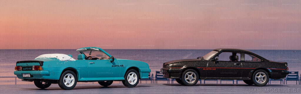 Modellauto   hahlmodelle.de   Umbau: Opel Manta B zu Opel Manta B Cabriolet (Piecha)