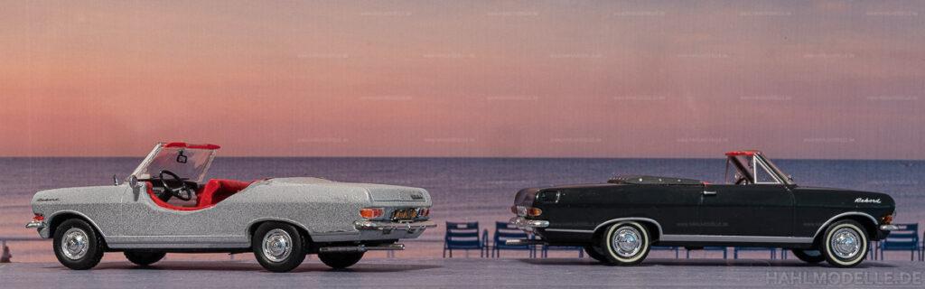 "Modellauto | hahlmodelle.de | Umbau: Opel Rekord A Cabrio zu Opel Rekord A Cabrio ""Tour de France"""