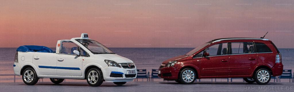 Modellauto | hahlmodelle.de | Umbau: Opel Zafira B zu Opel Zafira B Cabrio (Taxi auf Capri, Vernagallo)
