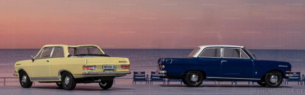 Modellauto   hahlmodelle.de   Umbau: Opel Rekord A zu Opel Rekord A Cabrio-Limousine (Autenrieth)
