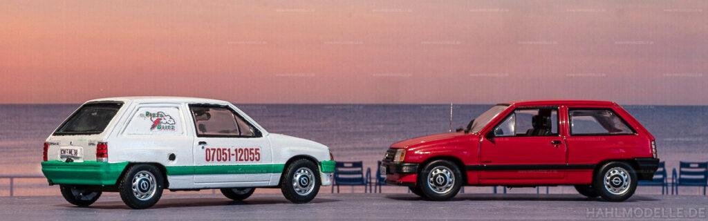 Modellauto   hahlmodelle.de   Umbau: Opel Corsa A zu Opel Corsa A Lieferwagen