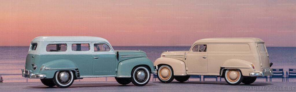 Modellauto | hahlmodelle.de | Umbau: Opel Olympia 1951 Lieferwagen zu Opel Olympia 1951 Kombi (Miesen)