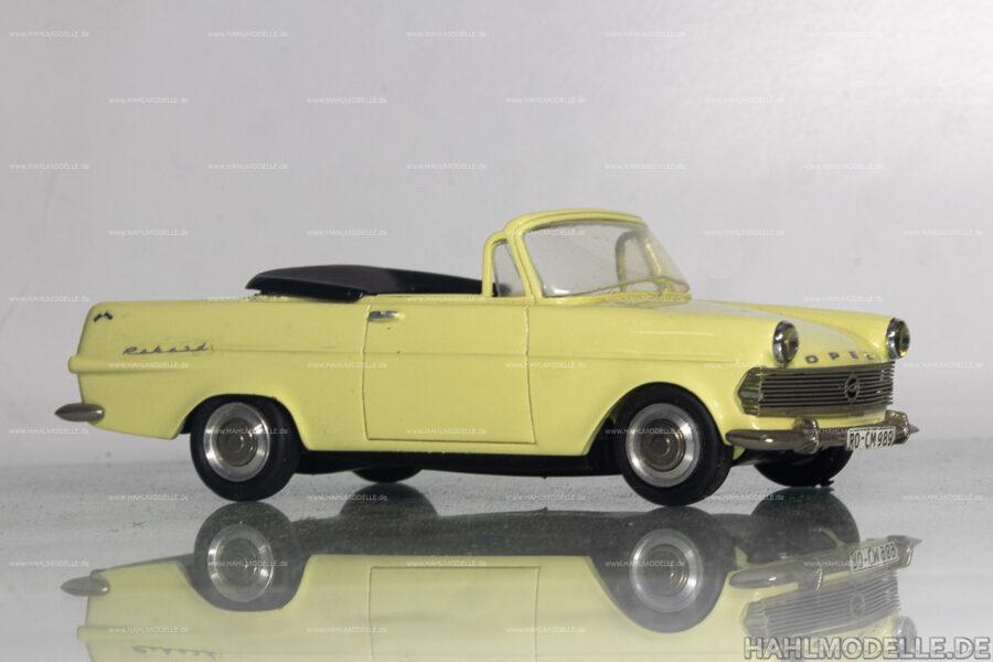 Modellauto | hahlmodelle.de | Opel Rekord P2, Cabriolet, Autenrieth